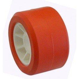 ALCIUMPECHE Galet 100 BI-Matiere Rouge - 50x100 mm A21,5 pour remorque - MECT-06101