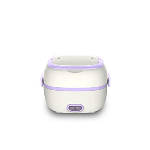 XJJZS Mini Rice Cooker Rice Thermostat Egg Steamer Electric Lunch Box Heated Food Containers Food Warmer for Home Office