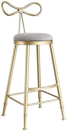 WWW-DENG barkruk, grijs, kruk met goudkleurig ijzer, voetensteun en ontbijt, bar, bar, bar, bar, bar, bar, bar, bar, bar, bar, bar, bar, keuken en thuisbar, stoel, home lounge stoel barkruk