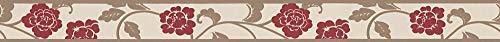 A.S. Création cenefa autoadhesivo Stick Ups beige marrón rojo 5,00 m x 0,05 m 282019