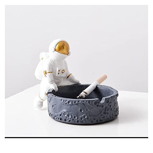 SDLSH Cenicero Cenicero a Prueba de Viento, Cigarrillos Astronauta Ceniza, cenicero Creativo, para hogar Lindo Dibujos Animados Astronauta Astronauta ceniceros, decoración del hogar para Uso