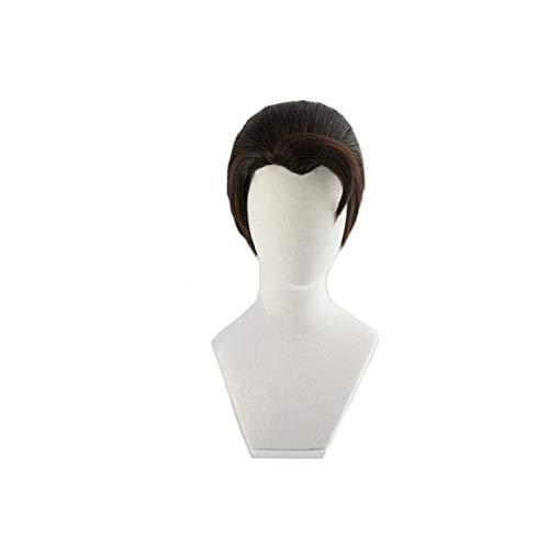 Detroit: Become Human Connor Peluca de cosplay Slicked-back Corto resistente al calor Fibra de pelo falso Pelucas Disfraz Pelucas de juego de rol1281