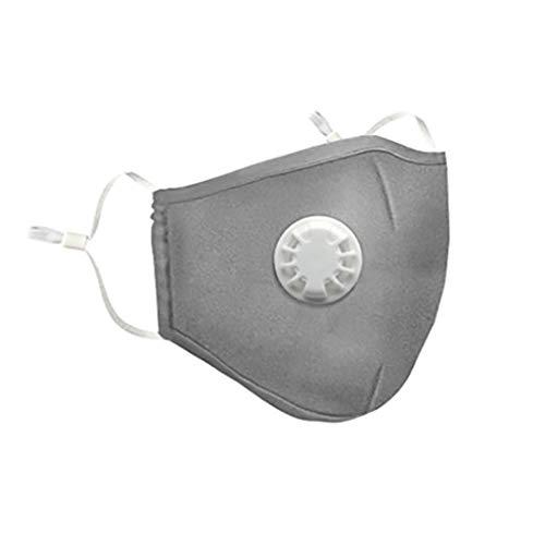 Btruely Maske wiederverwendbarer PM2.5 Staub Waschbar Schutz Anti Haze Maske Feinstaubmaske Reusable Mundschutz-Maske für Outdoor Schutzmaske Feinstaubmaske Mundschutzmaske für Motorradfahrräder