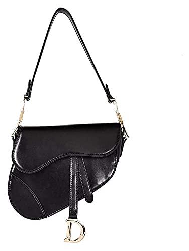Fashion Street Bolsa de Silla de Montar Bolsas de Crossbody Vintage for Mujeres Satchel Handbags PU Cuero - Bolsas de Satchel Bolsos Bolsos de Tote Monederos for Mujer Señora