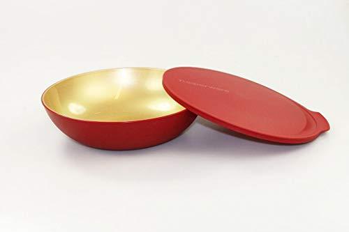 TUPPERWARE Allegra 1,5 L rot gold Servier Schüssel Schale Servierschale