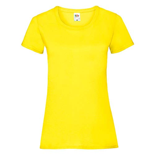 Fruit of the Loom - Lady-Fit T-Shirt 'Valueweight T' / Yellow, M