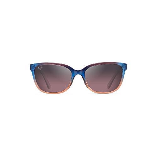 Maui Jim Women's Honi Cat-Eye Sunglasses, Sunset/Maui Rose Polarized, Small