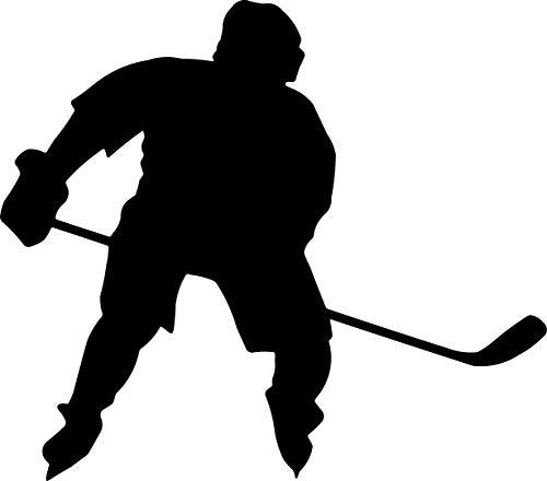 EmmiJules Wandtattoo Eishockey Eishockespieler (55cm x 50cm) - Made in Germany - in verschiedenen Größen und Farben - Winter Sport Hockey Kinderzimmer Junge Wandsticker Wandaufkleber Sport