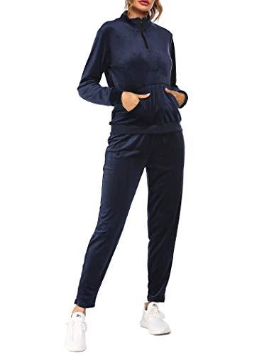 Balancora Damen Schlafanzug Winter Pyjama Set Langarm Nachtwäsche Jogginganzug...
