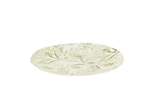 Zak Designs 2410-002 Assiette, décor végétal, Ø22