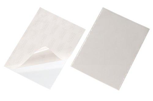 Durable 809619 Pocketfix Pochette Plastique Adhésive pour Document A4 Ouverture Par le Haut - Format Pochette 302 x 216 mm Boîte de 25