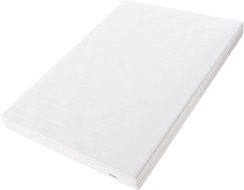 Hilding Sweden Komfortschaum RG32 Mittelfeste 7-Zonen Matratze, für alle Schlaftypen H2-H3/200 x 80 x 16 cm, Schaumstoff, weiß
