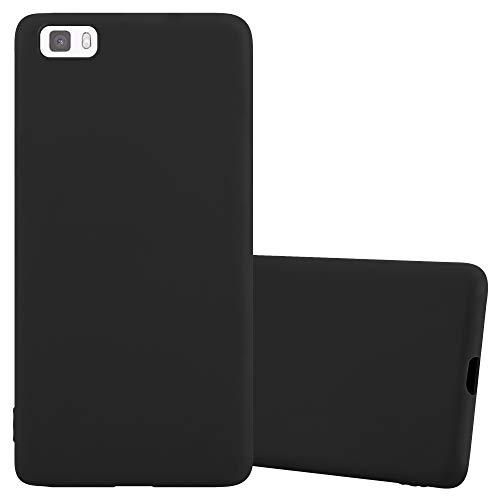 Cadorabo Funda para Huawei P8 Lite en Candy Negro - Cubierta Proteccíon de Silicona TPU Delgada e Flexible con Antichoque - Gel Case Cover Carcasa Ligera