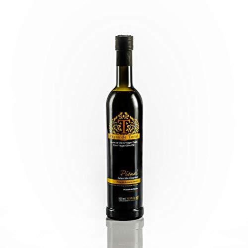 Aceite de Oliva Virgen Extra Pagos de Toral Picual y Selección Gourmet de 500 ml de Jaén. Cosecha propia familiar de Octubre y primera presión en frio.