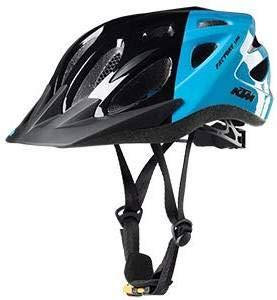 KTM Trekking fietshelm - Youth - Gr.51-56 - zwart-lichtblauw (8-012)