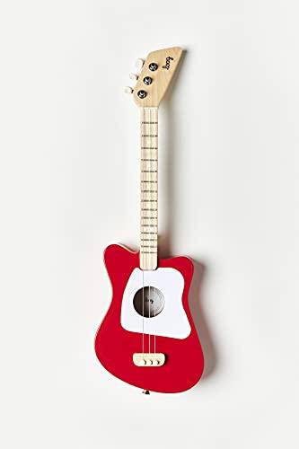 Loog Mini 3 String Acoustic Guitar, Red (LGMIR)