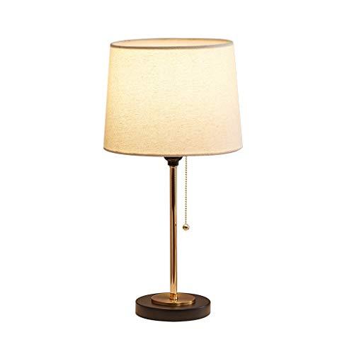 XZGang Escritorio Moderno de la lámpara, Simple lámpara de Mesa E27 Cable de Control 25 * 25 * 50cm lámpara de Escritorio del Cromo del Metal de Cobre lámpara de Mesa casa (Size : 25 * 50cm)