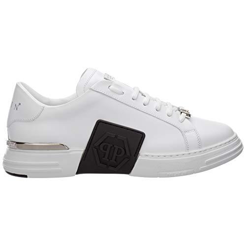 Philipp Plein Herren Phantom Kick$ Sneaker Bianco 43 EU