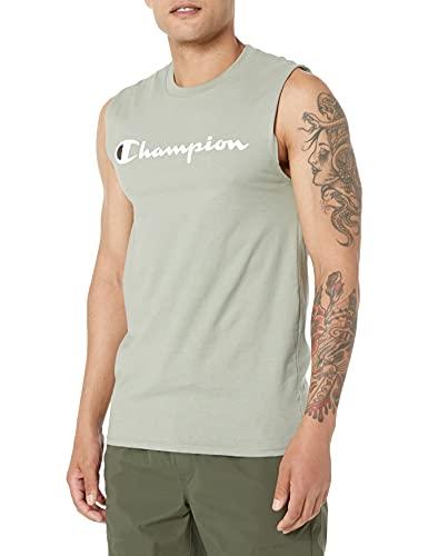 Champion Graphic Jersey Muscle Camiseta, Ecología Verde, L para Hombre