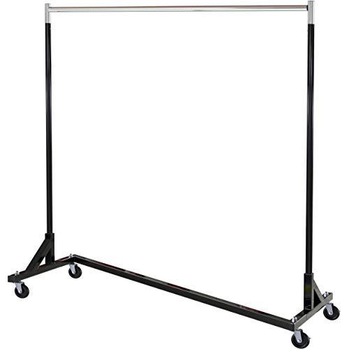 SimpleHouseware Commercial Grade Z-Base Garment Rack, 400lb Load with 62' Extra Long bar, Black
