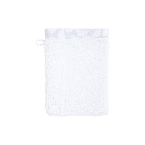 Olivier Desforges Gant de Toilette Salina Blanc 15 x 21 cm