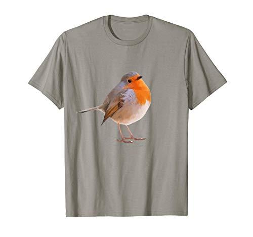 Design mit Vogel Motiv Rotkehlchen   Vogel des Jahres 2021 T-Shirt