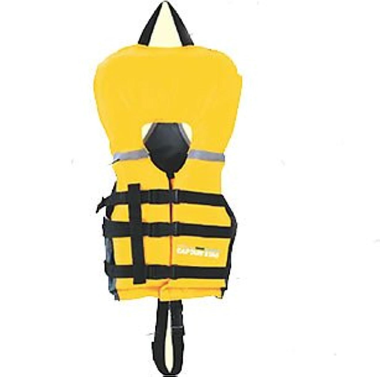 洗練おそらく地図キャプテンスタッグ(CAPTAIN STAG) ライフジャケット シーサイドフローティングエイド幼児用 イエローMC-2554