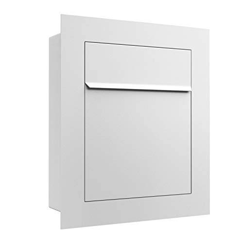 Unterputz-Briefkasten, Design Einbaubriefkasten Bari Weiss - Bravios