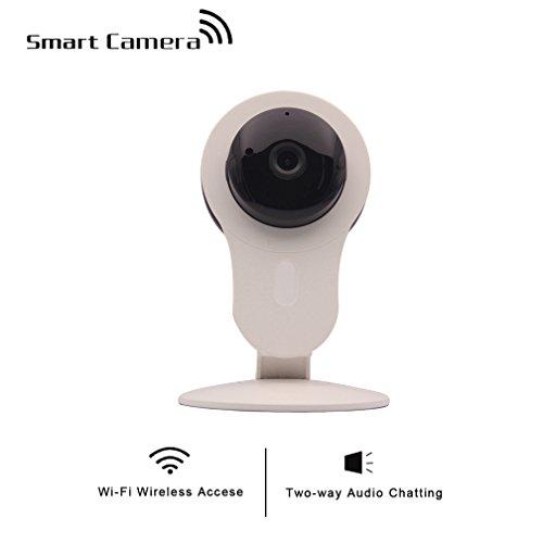 shengyaohul sistema de cámara de vigilancia IP Detección de Movimiento cámara de vigilancia IP, 720p Full HD interior Cam vigilancia con viene con pan/tilt de alarma inalámbrico (blanco)