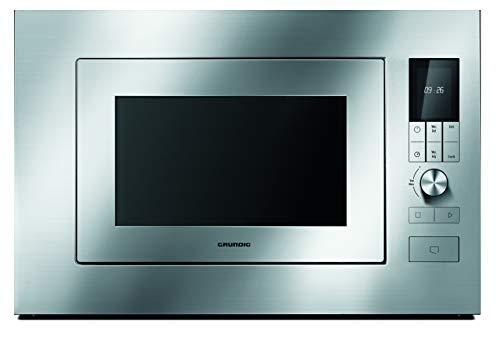 GRUNDIG GMI 2141 X Einbaumikrowelle/integriert / Grill-Mikrowelle 1200 W / 900 W/Edelstahl / 23 l Garraum