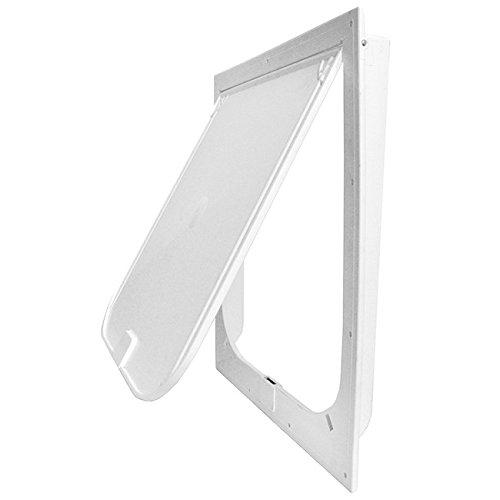Plaza Enterprises Inc Magnador Kennel Dog Door, Large Flap, Standard Magnet, White
