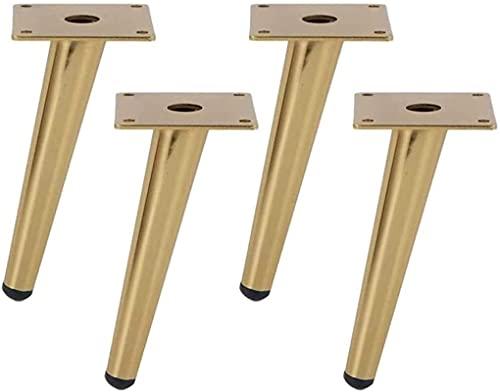 JYV 4 Patas de Muebles de Acero Inoxidable, pies de Muebles oblicuos cónicos, gabinete, tocador, Armario, gabinete de Zapatos, Accesorios de Muebles de Hardware. Piernas de Muebles