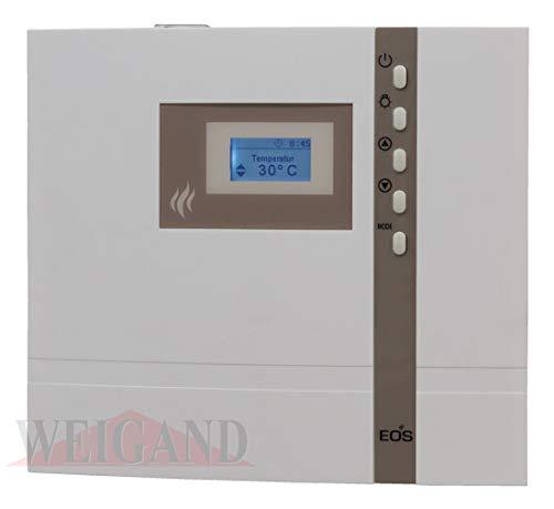 EOS Saunasteuerung ECON D2, externe Steuerung für die Sauna mit 24 h Vorwahluhr inkl. Temperaturfühler und Überhitzungsschutz für die rein finnische Sauna - Original EOS - Ohne Fremdmarkenlogo D2