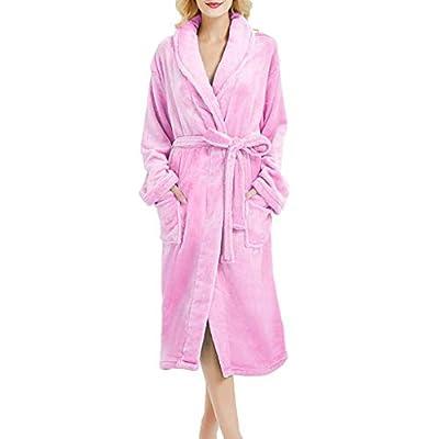 Clearance! Sunfei Women's Winter Hooded Lengthened Long Sleeved Plush Shawl Bathrobe Slee