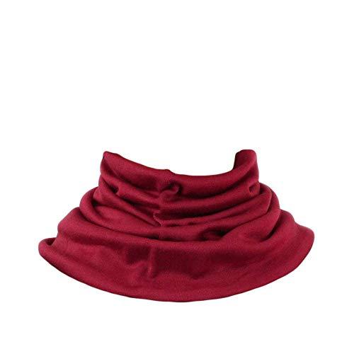 UK_Stone Herren 90% Maulbeerseide 10% Kaschmir Doppelschicht Schlauchschal Halstuch Unifarben Loop Abnehmbar Faux Kragen Valentinstagsgeschenk