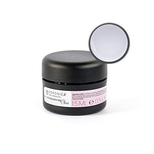 UV/LED BUILDER gel Clear, 15 ml, middelvisceusnagel gel voor de mooiste French manicure gelnagels, maar ook voor de natuurlijke look!