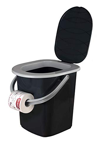 BranQ Toilette Campingtoilette Mobile Toiletteneimer Reisetoilette für Alte Leute Töpfchen Outdoor Camping (22L)
