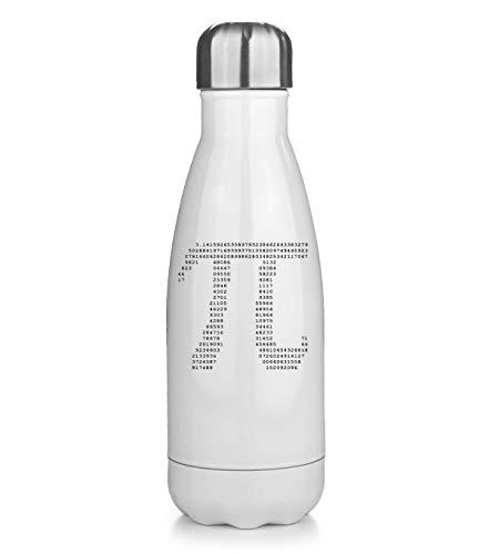 PasTomka Number Scientific Symbol Pi Love Math Térmica Bottela Termo Bottle Acero Inoxidable