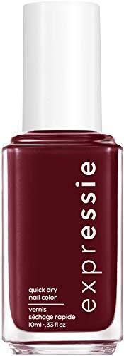 essie expressie Quick-Dry Vegan Nail Polish, Burgundy 290 Not So Low-Key, 0.33 fl oz