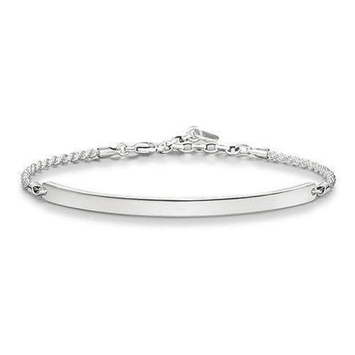 Thomas Sabo Damen-Armband Love Bridge 925 Silber Zirkonia schwarz 18 cm - LBA0008-001-12-L18v