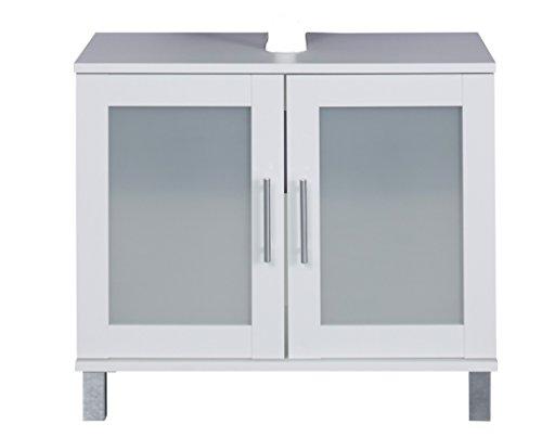 trendteam smart living Badezimmer Hochschrank Schrank Florida, 65 x 56 x 33 cm in Weiß mit viel Stauraum