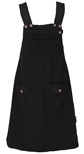 GURU SHOP Latzrock, Trägerkleid, Hippierock, Damen, Schwarz, Baumwolle, Size:XL (42), Röcke/Kurz Alternative Bekleidung