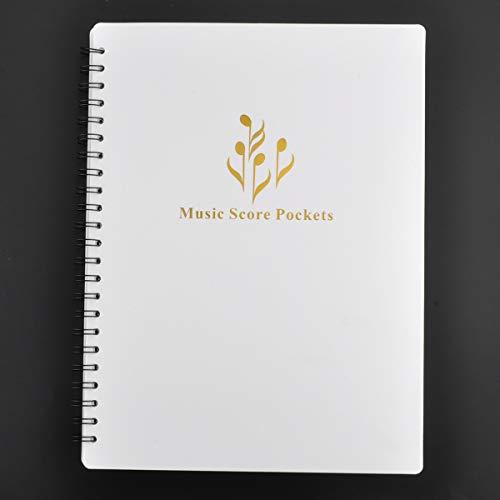 Notenblatt-Ablagemappe - Ordner in A4-Briefgröße,  doppelseitig, Notenmappe für Notenbätter und Dokumente etc. weiß