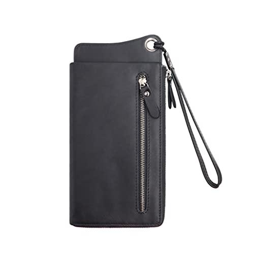 XUYUN Bolso largo del teléfono móvil del viaje del negocio de la cartera de cuero RFID de la tarjeta de crédito de los hombres