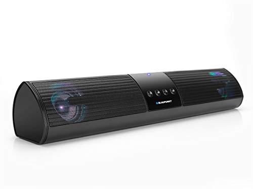 Blaupunkt - Soundbar TV, set Home Cinema senza fili, altoparlanti per TV, barra audio, barra audio senza fili, barra audio a LED, compatibile con Bluetooth nero, 10 Watt NA