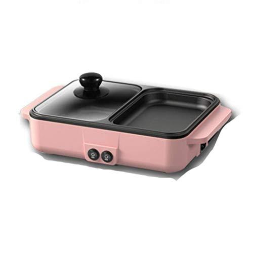 YGB Cocina eléctrica portátil multifunción Mini estofado Parrilla de Barbacoa Plancha Tortilla...