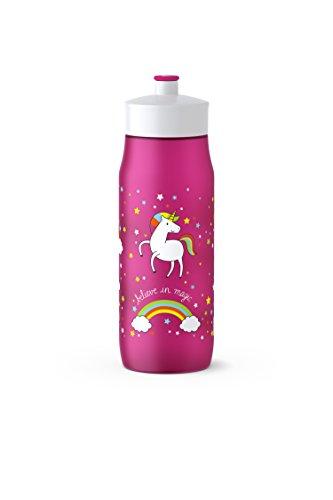Emsa Squeeze Bottle 518089; 0,6L Unicorn, PE, Pink, 6.5 x 6.5 x 21.9 cm