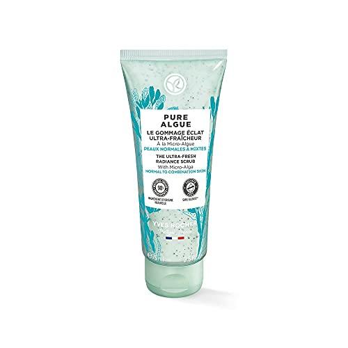 Yves Rocher PURE ALGUE Ultra-frisches Glow Peeling, Hautpflege mit Mikroalgen, belebt die Haut, 1 x 75 ml Tube