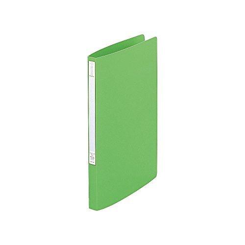 リヒト F347U-6 スーパーパンチレスファイル A4タテ 黄緑 おまとめセット【3個】