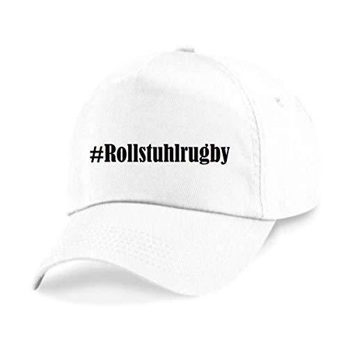 Base Cap Hashtag #rolstoelrugby Baseball Cap Basecap Hashtag ruit voor dames heren en kinderen in de trendy kleuren zwart en wit Hip Hop Streetwear Baseball-pet met het grote scherm